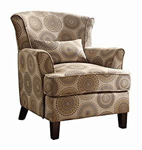 Amazon Com Homelegance 1216f1s Accent Chair With Kidney