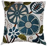 Brentwood 9203 Caroline Embroidered Pillow, 16-Inch, Cool