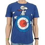 Logoshirt Vintage T-Shirt Peanuts Snoopy Target Blue Size:XXL