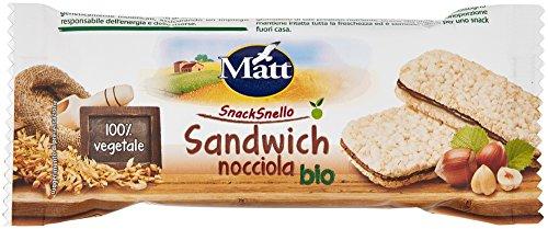 Matt Snacksnello Sandwich Nocciola Bio - 20 gr