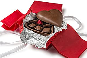 Happy Valentines Gift, Gourmet Chocolate Truffle Gift Fully Edible 5