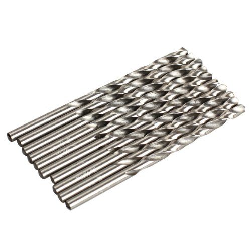 Vktech 10PCS 3.5mm Micro HSS Twist Drilling Auger Bit for Electrical Drill New