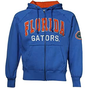 NCAA Florida Gators Royal Blue Competition Full Zip Hoody Sweatshirt (Small) by Colosseum