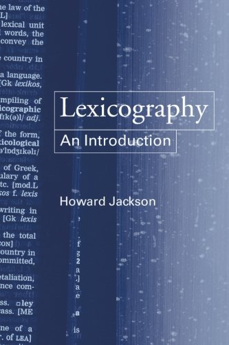 Lexicography: An Introduction