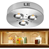 LE 3W Brightest LED Under Cabinet Lighting, Puck Lights, 12VDC, 25W Halogen Replacement, 240lm, Warm White, Under Cabinet Lighting