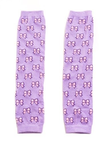 Pink Bows Lilac Leg Warmers Child Size Knee High Dancewear