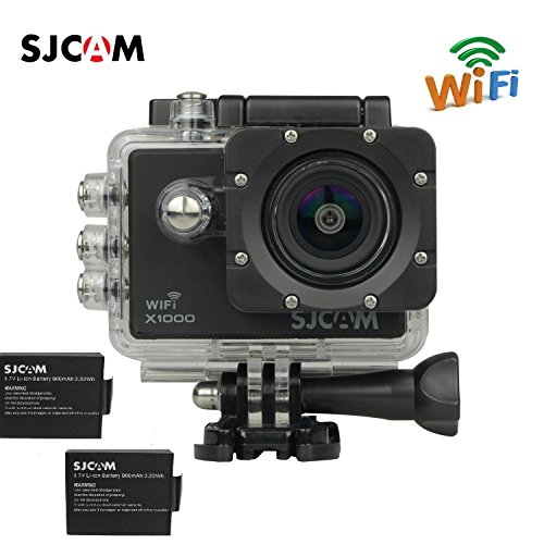"""Original Sjcam X1000 Wifi Novatek 96655 12mp 2.0"""" LCD 1080p 170 Degree Wide Angle Sport Action Camera Waterproof Cam Dv Camcorder Outdoor for Bicycle Motorcycle Diving Swimming+extra 1 Battery"""