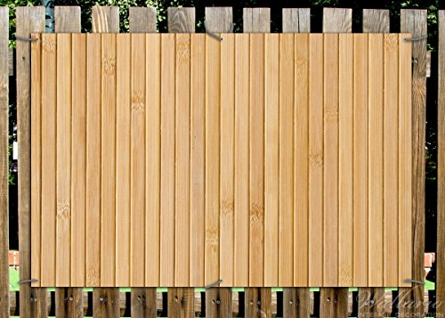 Wallario Garten Poster Outdoor Poster Holzpanele Hell In