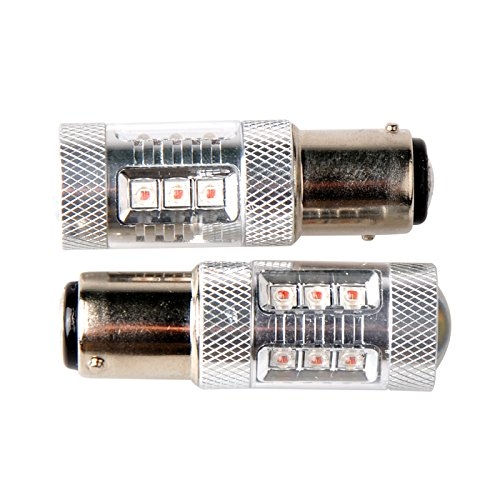 2Pcs 80W S25 1157 Bay15D Cree Led Brake Turn Signal Light White Amber Auto Car Lamp Bulbs Source Replacement