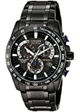 "Citizen Men's AT4007-54E ""Perpetual Chrono A-T"" Black Stainless Steel Watch"