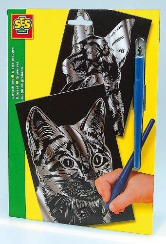 Imagen 1 de SES creative 01040 - Juego de grabado diseño Perro y gato [Importado de Alemania]