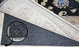 Non Slip Rug Pad 100% Felt and Rubber Extra Cushioned BEST VALUE BEST QUALITY Non Slip Rug Pad Added Comfort and Protection Reversible (3ft x 5ft)