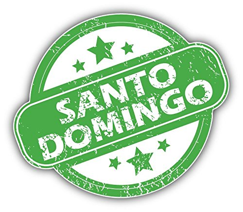 santo-domingo-grunge-rubber-travel-stamp-art-decor-autocollant-12-x-10-cm