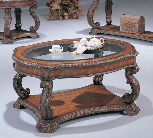 Cheap Hand Carved Glass Inlay Coffee Table Wood Accent Wooden Shopping Online In Usa