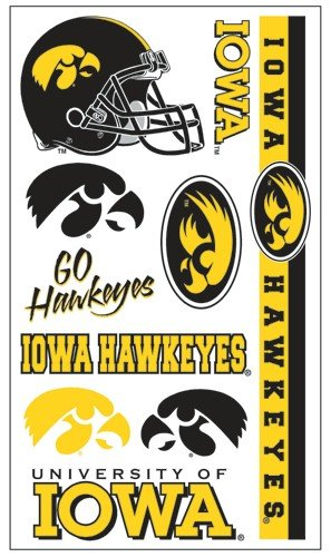 Iowa Hawkeyes NCAA Temporary Tattoos