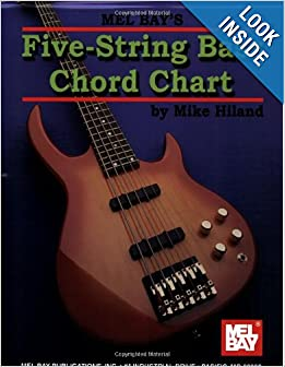 mel bay 5 string bass chord chart mike hiland 9780786664887 books. Black Bedroom Furniture Sets. Home Design Ideas
