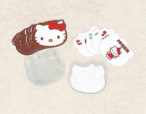 Amscan Adorable Hello Kitty Playing Cards (1 Piece), Red, 3 x 2 1/2""