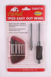 7 pc Easy Out Screw Extractor Set
