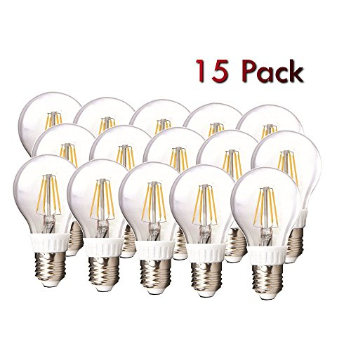 Amledtek A-Bf401 Led Filament A19 4W To Replace 40W Incandescent Bulb Softwhite (2700K) 15 Pack