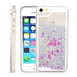 Apple iphone 6/6s Liquid Star Glittering Silver Hard Back cover