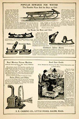 1908-ad-se-cassino-children-toy-little-folks-flexible-flyer-snow-sled-ice-skates-original-print-ad
