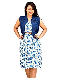 Aarti Collections Stylish Dark Blue Collar Jacket for Women