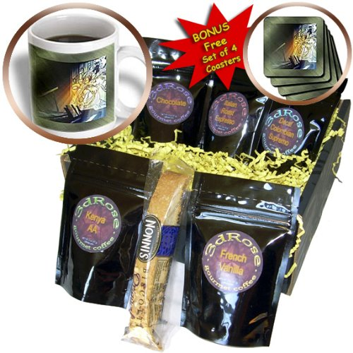 cgb_12879_1 Susan Brown Designs Musical Themes – Music and Stained Glass – Coffee Gift Baskets – Coffee Gift Basket