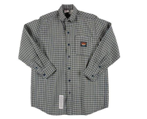Rasco Fire Retardant Green Plaid Dress Shirt 7.5 Oz, 2Xl Long front-608545