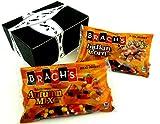 Brachs Candy Cornucopia: One 11 oz Bag of Indian Corn Candy and One 11 oz Bag of Mellowcreme Candy Autumn Mix in a Gift Box