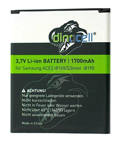 Dinocell® MADE Batteria 1700mAh di ricambio per originale Samsung Galaxy S3 mini S3mini GT-i8190, Galaxy Ace2 GT-i8160, Galaxy Trend S7560, Galaxy S DuoS S7562, come EB-F1M7FLU, EB-L1M7FLU (senza NFC), EB425161LU, NUOVO