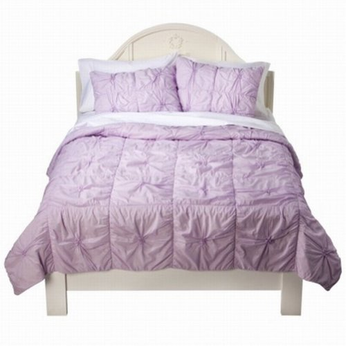 Xhilaration Full Queen Bed Coverlet Lavender Knotted Comforter Bedspread Cover front-993171