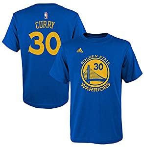 Golden State Warriors Stephen Curry Adidas Royal Blue Youth T Shirt 8-20 (Youth Medium 10-12)