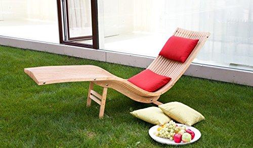 Relaxliege Gartenliege Sonnenliege Liege Holzliege Schwungliege (Birke grau geölt; mit Fußgestell) günstig online kaufen