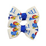 University of Kansas KU Jayhawk Pair of Hair-Bows at Amazon.com