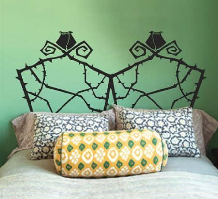 Headboard Wall Decal Double Full Size Nightmare Before Christmas Grid Wire Wall Sticker Home Art Decals Vinyl Stickers Bedroom Boy 950