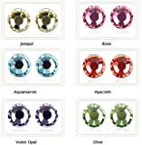 Kyujung Mix Lot Crystal Stud Earring Crystal Jewelry 24PRS/LOT Mixed Colors