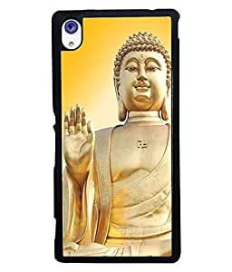 PrintVisa Metal Printed Lord Budha Designer Back Case Cover for Samsung Galaxy S6 Edge G925I-D4968