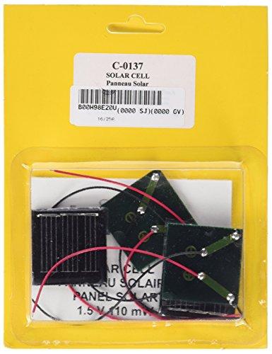 Cebekit - Pack de 4 paneles solares experimentales, juguete educativo, color negro (Fadisel C-0137)