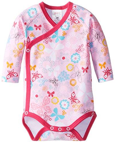 Zutano Baby-Girls Summer Dream Long Sleeve Body Wrap, Blush, Newborn front-906238