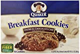 Quaker Breakfast Cookies Oatmeal Chocolate Chip, 6-Count 10.1oz Boxes (Pack of 6)