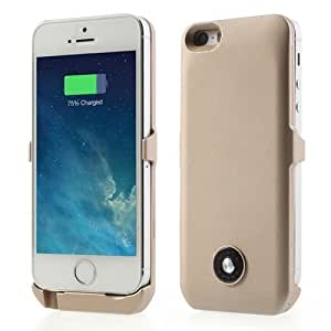 JUJEO Champagne 3000mAh External Battery Backup Power Case for iPhone 5s 5 - Retail Packaging - Multi Color