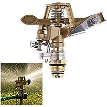 Generic 1/2 Inch Connector Copper Rotate Rocker Arm Water Sprinkler Spray Nozzle Garden Irrigation Adjustable...