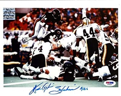 "Walter Payton Autographed 8x10 Photo Chicago Bears ""sweetness & 16,726"" Psa/dna Stock #19132"