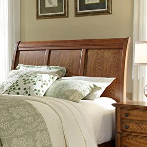 Hayden Place Sleigh Headboard Finish: Golden Oak, Size: King