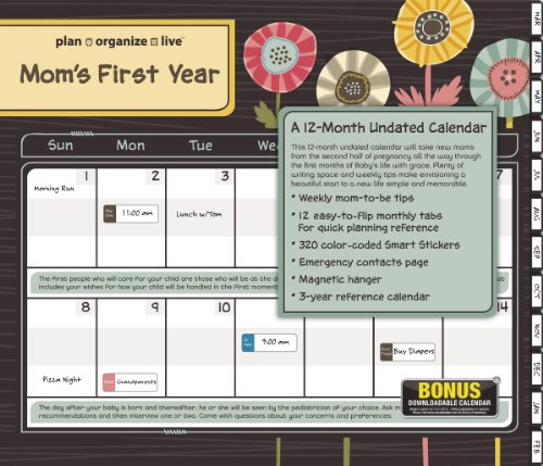 Cheap 2013 Plan, Organize, Live  Mom's First Year Family Org Tabbed Wall Calendar (1423817338)