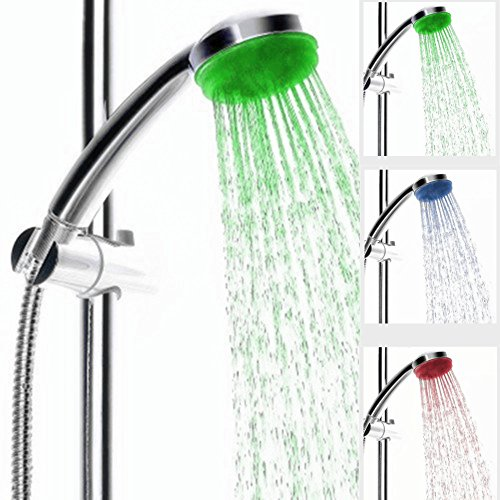IceMoon Colour Changing LED Shower Head, Colour Changes with changing Water Temp