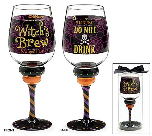 Halloween Witches Brew 20 Oz Wine Glass (Halloween Wine Glasses compare prices)