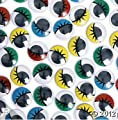 JUMBO SIZED SCHOOL CHILDREN ARTS And CRAFTS Black Google Wiggle Eyes 100pcs 25 mm LARGE PAINTED COLOR WIGGLE GOOGLE EYES WITH EYELASHES! 25mm