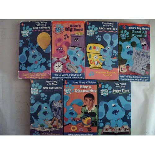 Blues Clues Pack Of 7 Vhs Tapes Play Along With Blue Birthday Blues