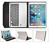 iPad Pro 9.7インチ キーボード【KuGi】 アルミニウム合金製 一体型 無線キーボード 良質PUレザーケース付き iPad Pro 9.7インチ 専用 Bluetooth キーボード ケース (iPad pro 9.7インチ, カーキ)